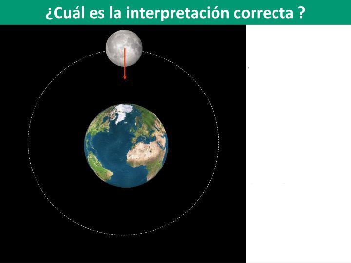¿Cuál es la interpretación correcta ?
