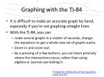 graphing with the ti 84