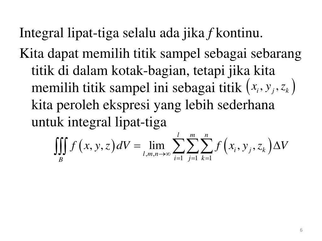 PPT - Integral Lipat-Tiga PowerPoint Presentation - ID:2819517