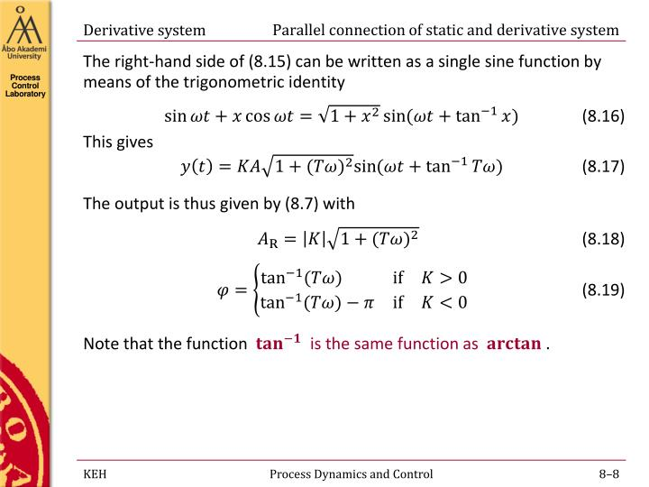 Parallel connection of static and derivative system