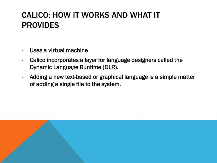 Calico: How It works and what it provides