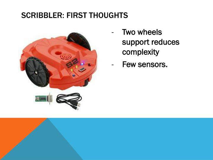 Scribbler: First thoughts