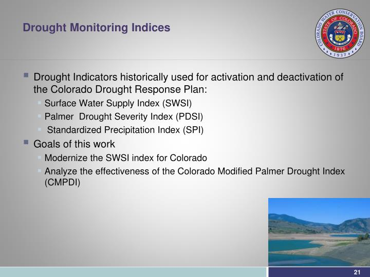 Drought Monitoring Indices