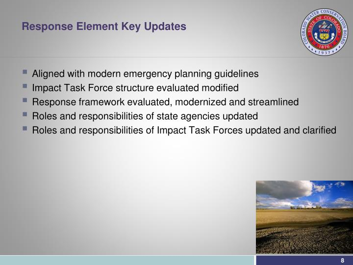 Response Element Key Updates