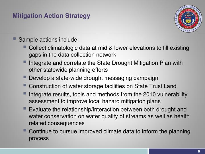 Mitigation Action Strategy
