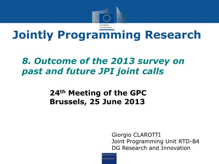 jointly programming research n.