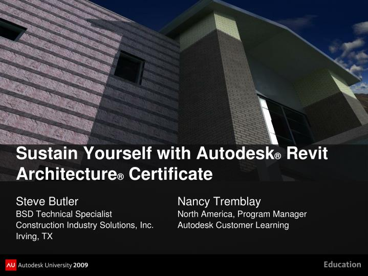 Ppt Sustain Yourself With Autodesk Revit Architecture