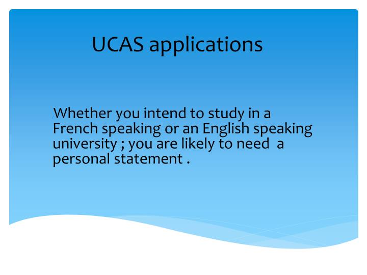 ucas personal statements for business studies