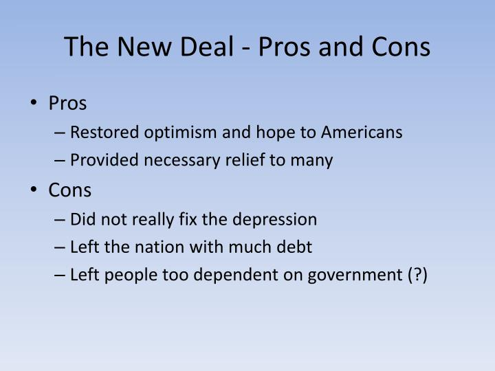 cons of the new deal
