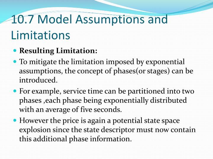 10.7 Model Assumptions and Limitations