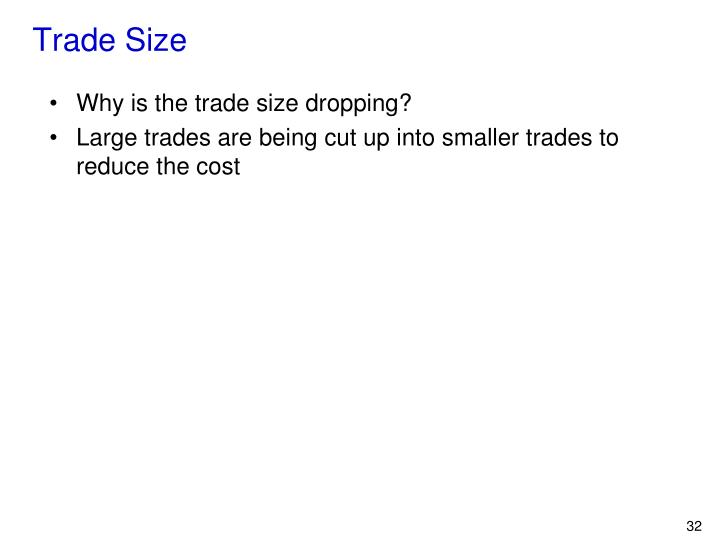 Trade Size
