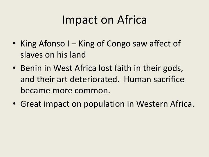 Impact on africa