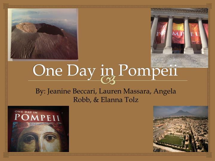one day in pompeii n.