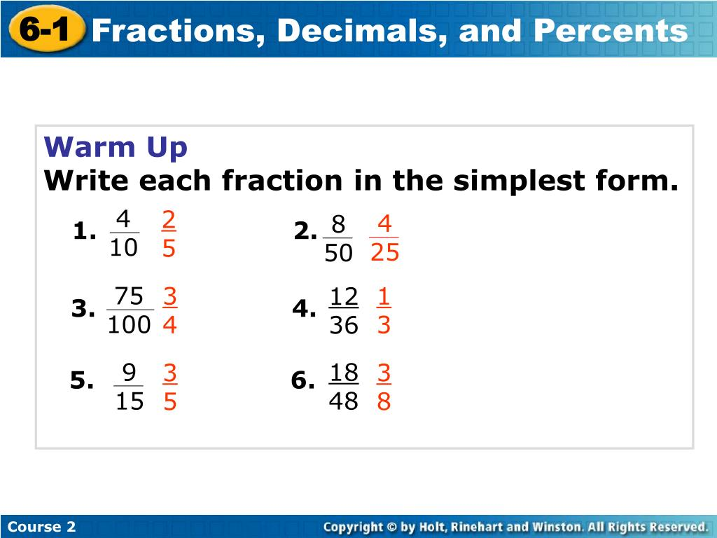 simplest form 9/15  PPT - 9-9 PowerPoint Presentation, free download - ID:2829039