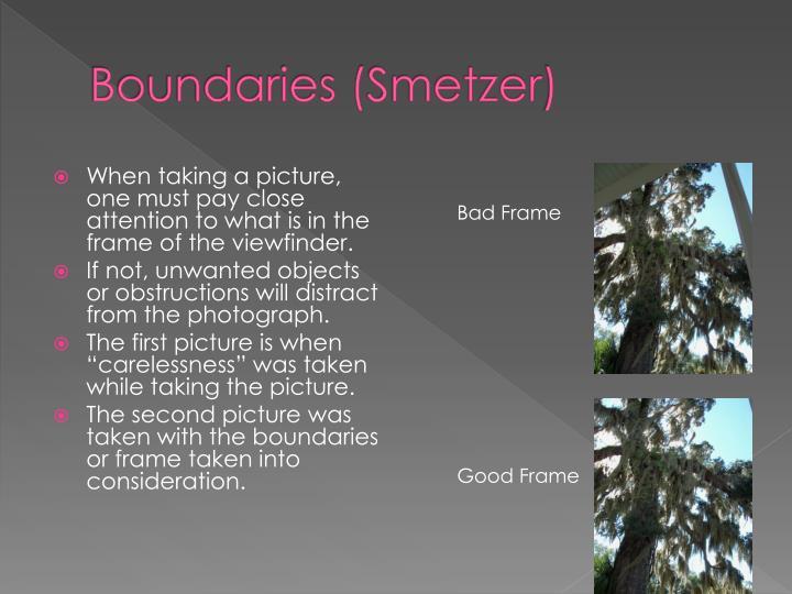 Boundaries (