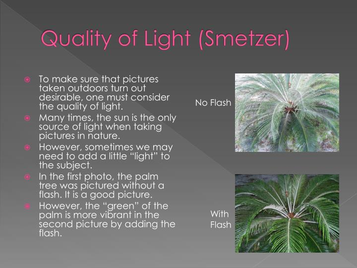 Quality of Light (