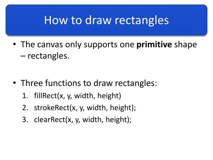 How to draw rectangles