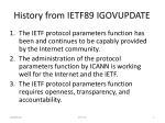 history from ietf89 igovupdate