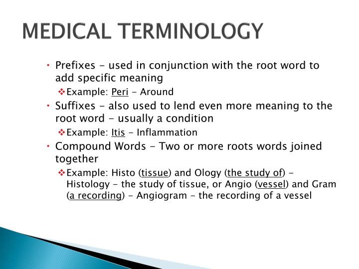 Ppt Medical Terminology Powerpoint Presentation Id2821611