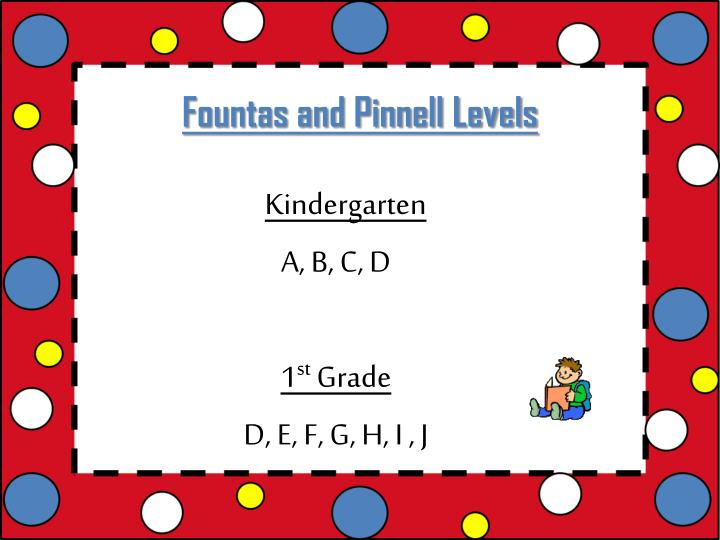 Fountas and Pinnell Levels