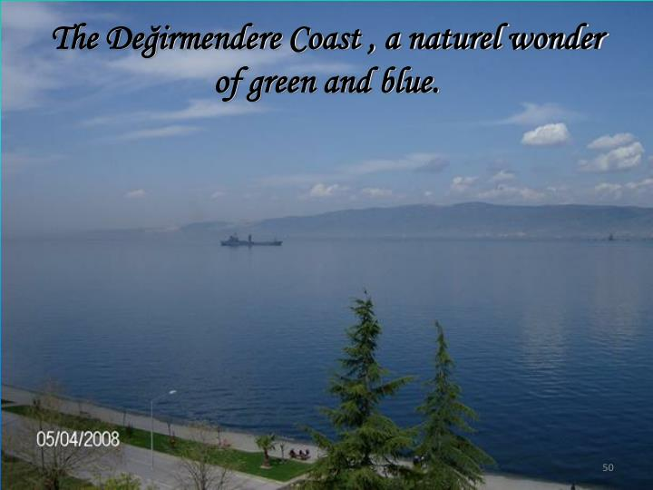 The Değirmendere Coast , a naturel wonder of green and blue.