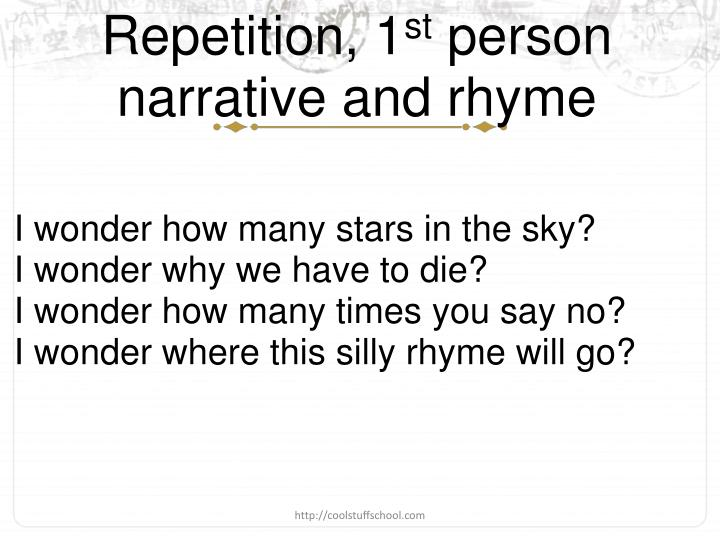 Repetition, 1