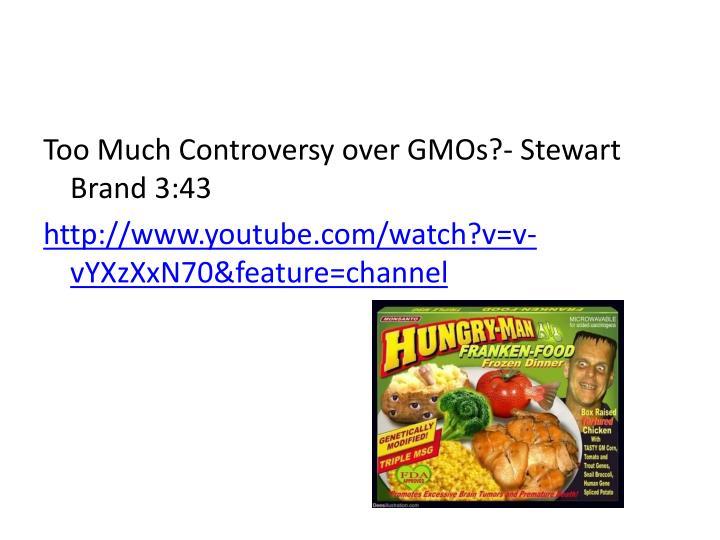 Too Much Controversy over GMOs?- Stewart Brand 3:43