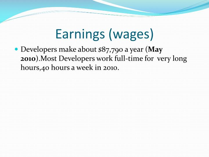 Earnings (wages)