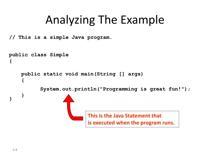 Analyzing The Example