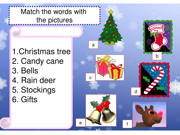 Match the words with