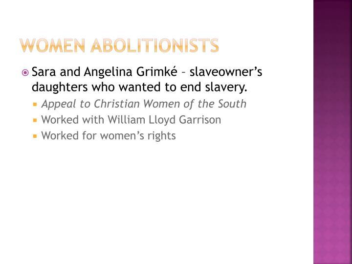 Women abolitionists