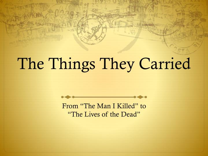 the things they carried n.