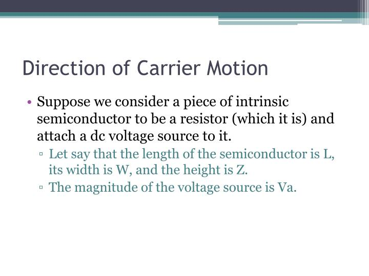 Direction of Carrier Motion