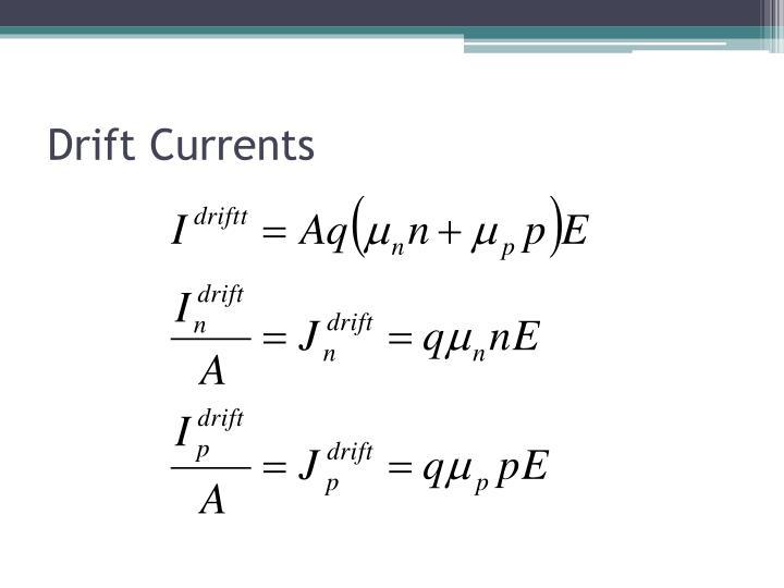 Drift Currents
