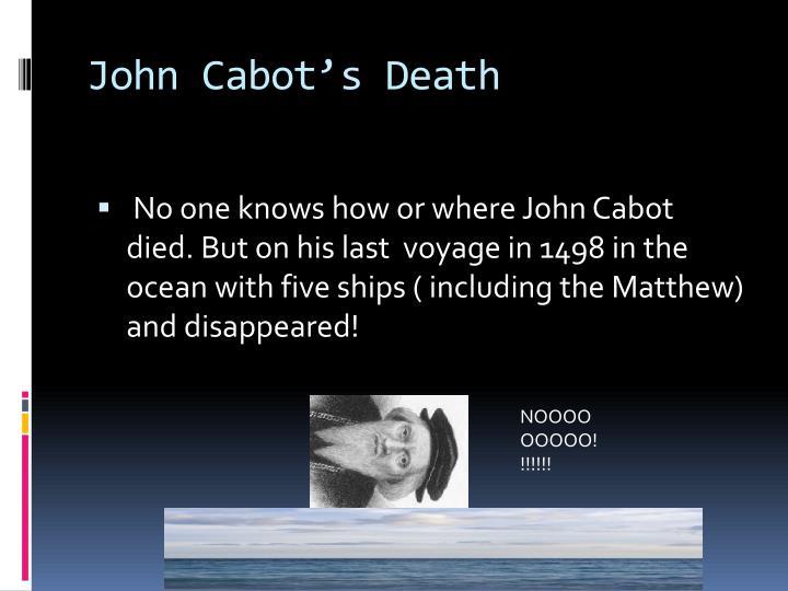 John Cabot's Death
