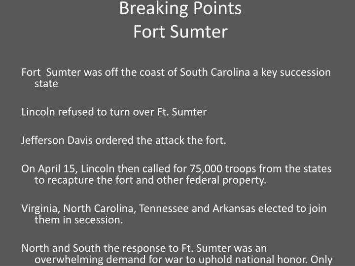 Breaking Points