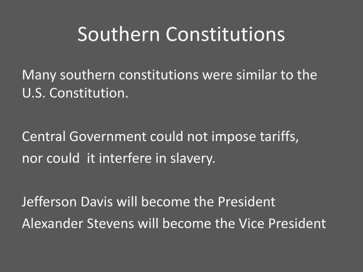 Southern Constitutions