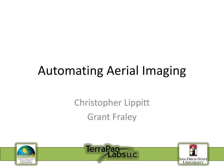 Automating aerial imaging