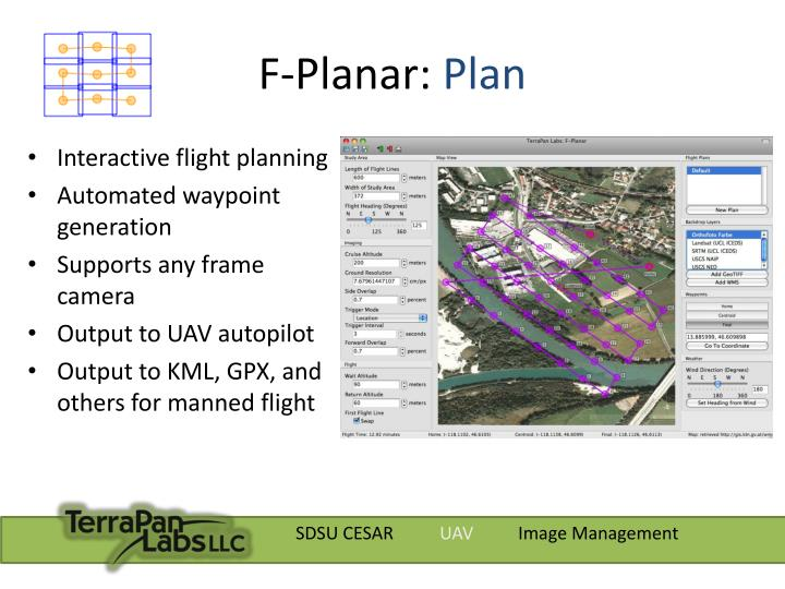 F planar plan