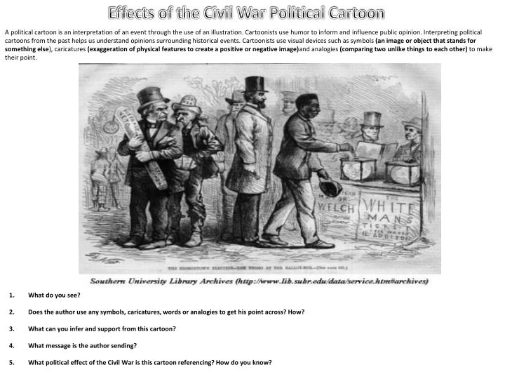 civil war analogies However, invoking the slavery analogy is a dangerous game 1 the civil war was immensely destructive, with hundreds of thousands of deaths — the modern equivalent of millions of americans killed, proportional to the population of the time realistically, no one wants this kind of event to usher in the age of veganism.