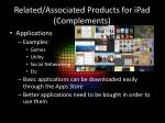 related associated products for ipad complements2