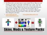 skins mods texture packs