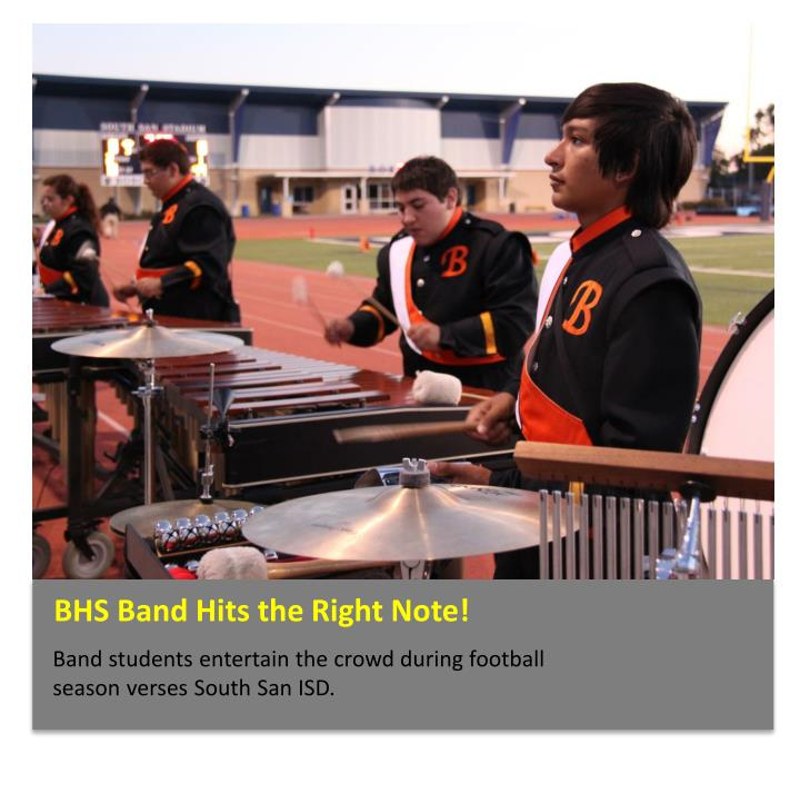BHS Band Hits the Right Note!