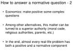 how to answer a normative question 2