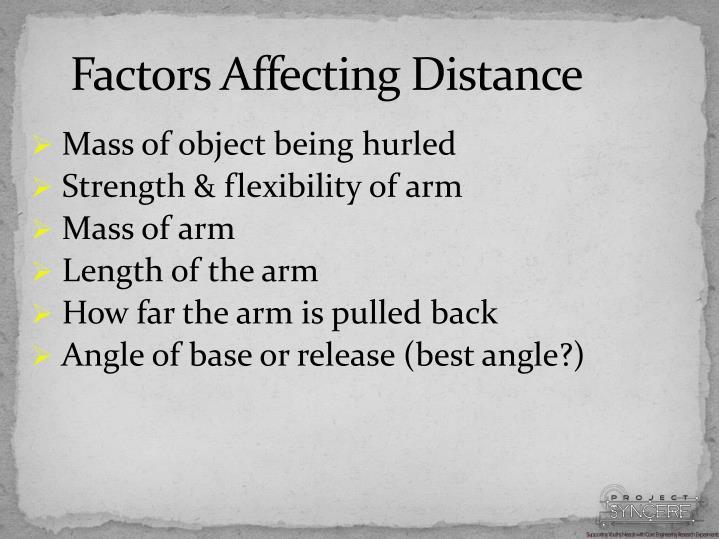 Factors Affecting Distance