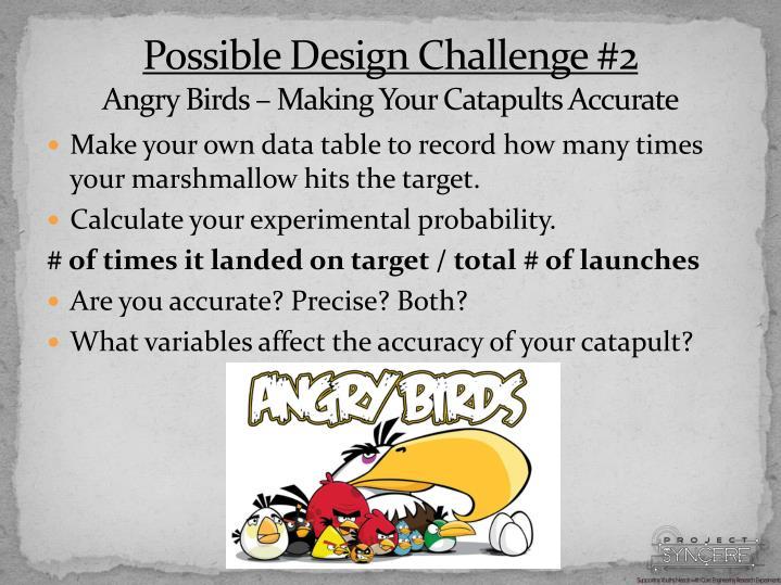 Possible Design Challenge #2