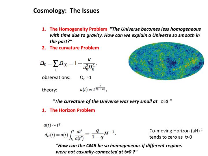 Cosmology:  The Issues