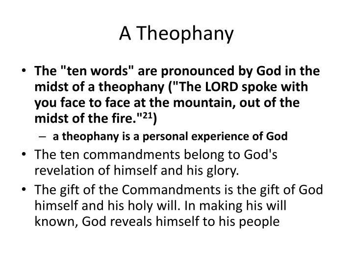 A Theophany