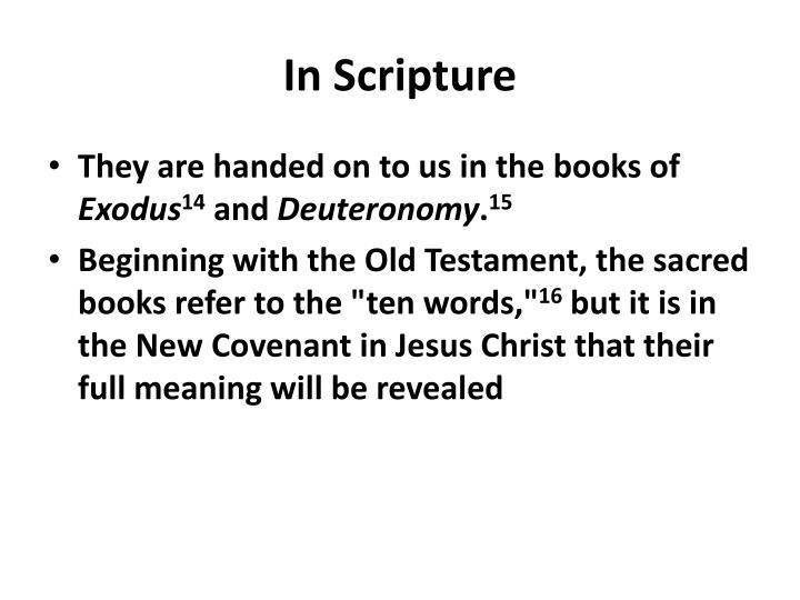 In Scripture