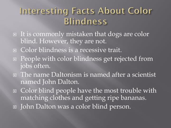 Interesting Facts About Color Blindness